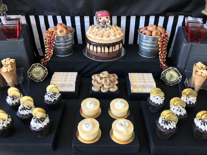 Dessert tabletop from a Pirate Birthday Party on Kara's Party Ideas | KarasPartyIdeas.com (8)