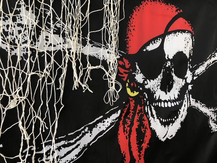 Backdrop from a Pirate Birthday Party on Kara's Party Ideas | KarasPartyIdeas.com (6)