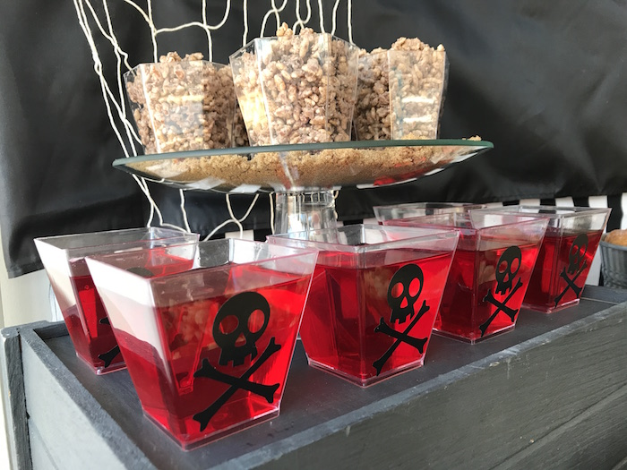 Crossbone jello from a Pirate Birthday Party on Kara's Party Ideas | KarasPartyIdeas.com (5)