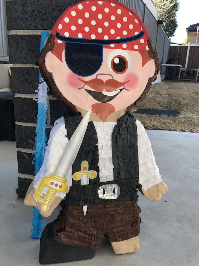 Pirate pinata from a Pirate Birthday Party on Kara's Party Ideas | KarasPartyIdeas.com (36)
