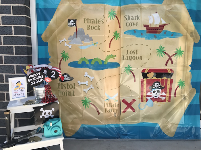 Photo booth from a Pirate Birthday Party on Kara's Party Ideas | KarasPartyIdeas.com (31)