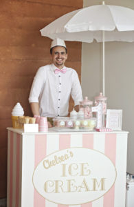 Vintage Ice Cream Cart from a Pretty Pastel Ice Cream Party on Kara's Party Ideas | KarasPartyIdeas.com (8)