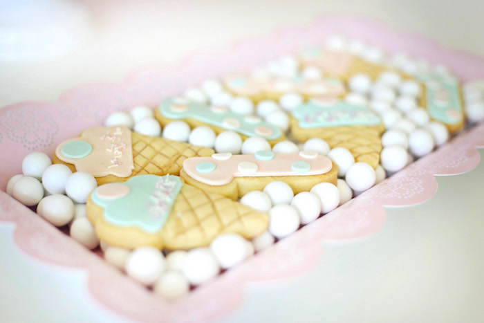 Cookies from a Pretty Pastel Ice Cream Party on Kara's Party Ideas | KarasPartyIdeas.com (17)