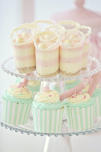 Cupcakes and dessert shooters from a Pretty Pastel Ice Cream Party on Kara's Party Ideas | KarasPartyIdeas.com (15)
