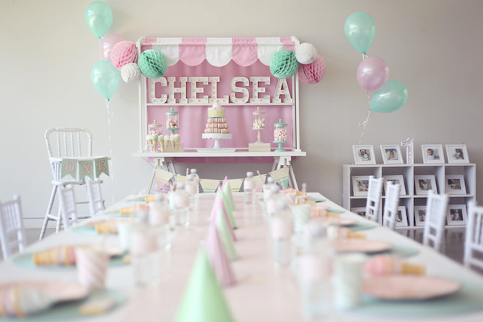 Party tables from a Pretty Pastel Ice Cream Party on Kara's Party Ideas | KarasPartyIdeas.com (10)