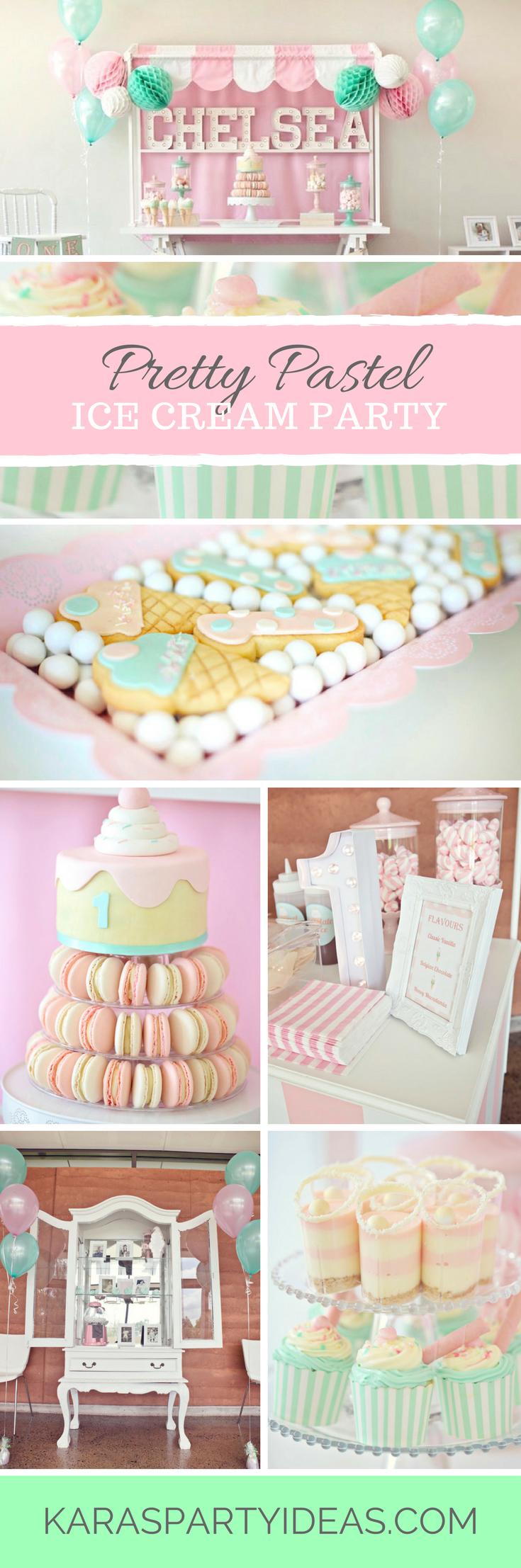 Pretty Pastel Ice Cream Party via Kara's Party Ideas - KarasPartyIdeas.com