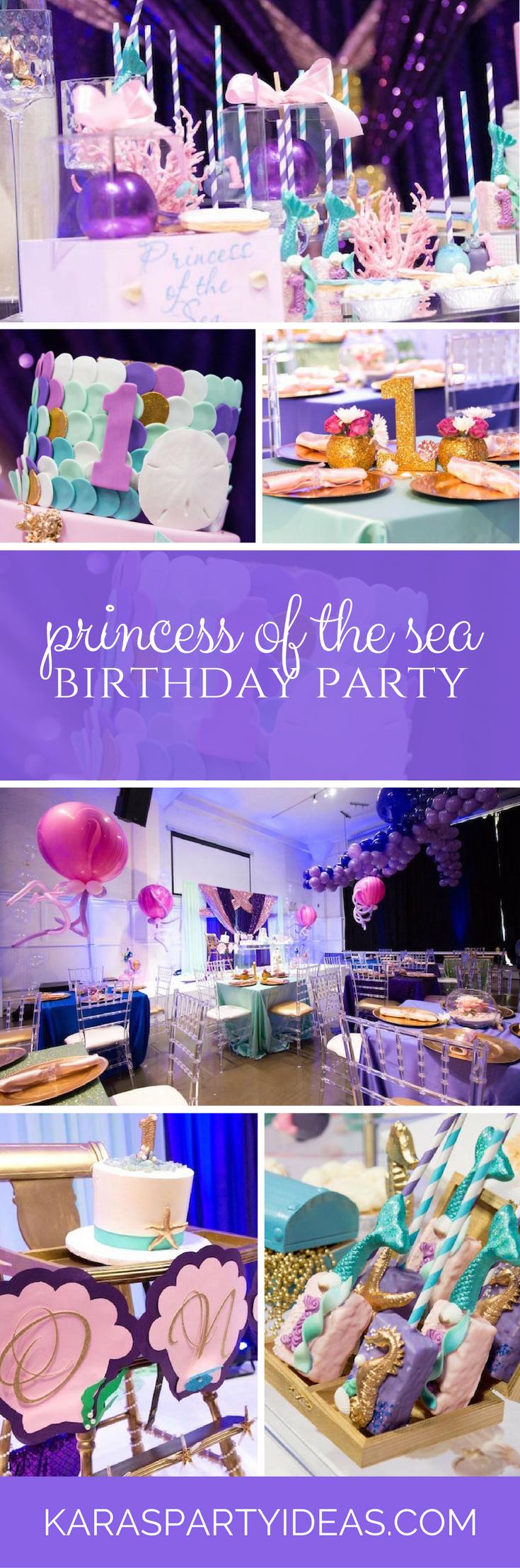 Princess of the Sea Birthday Party via Kara's Party Ideas - KarasPartyIdeas.com