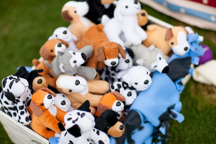 Plush puppies from a Puppy PAW-ty on Kara's Party Ideas | KarasPartyIdeas.com (16)