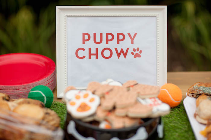 Puppy Chow Signage from a Puppy PAW-ty on Kara's Party Ideas | KarasPartyIdeas.com (8)