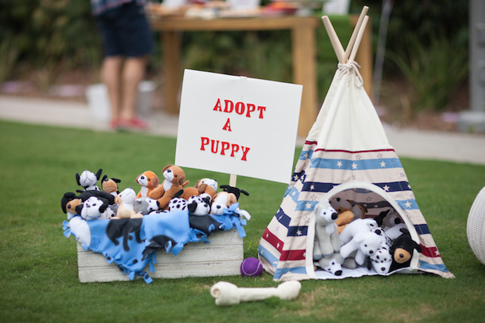 Puppy adoption station from a Puppy PAW-ty on Kara's Party Ideas | KarasPartyIdeas.com (5)