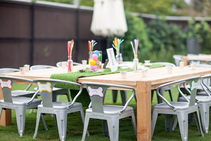 Puppy party table from a Puppy PAW-ty on Kara's Party Ideas | KarasPartyIdeas.com (27)