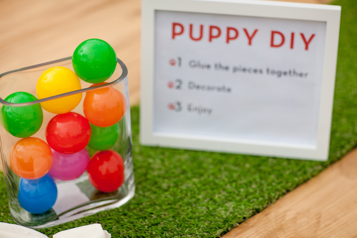 Ball centerpiece from a Puppy PAW-ty on Kara's Party Ideas | KarasPartyIdeas.com (24)