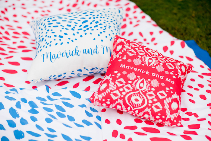 Pillow and blanket lounge from a Puppy PAW-ty on Kara's Party Ideas | KarasPartyIdeas.com (20)