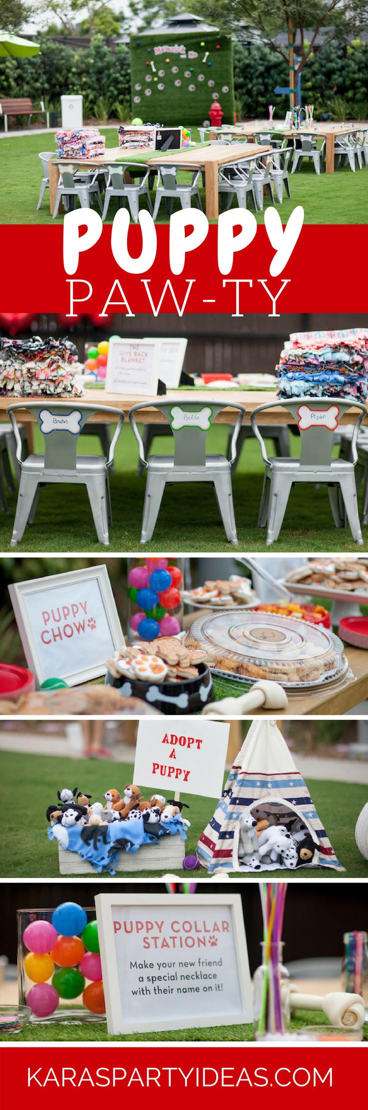 Puppy Paw-ty via Kara's Party Ideas - KarasPartyIdeas.com