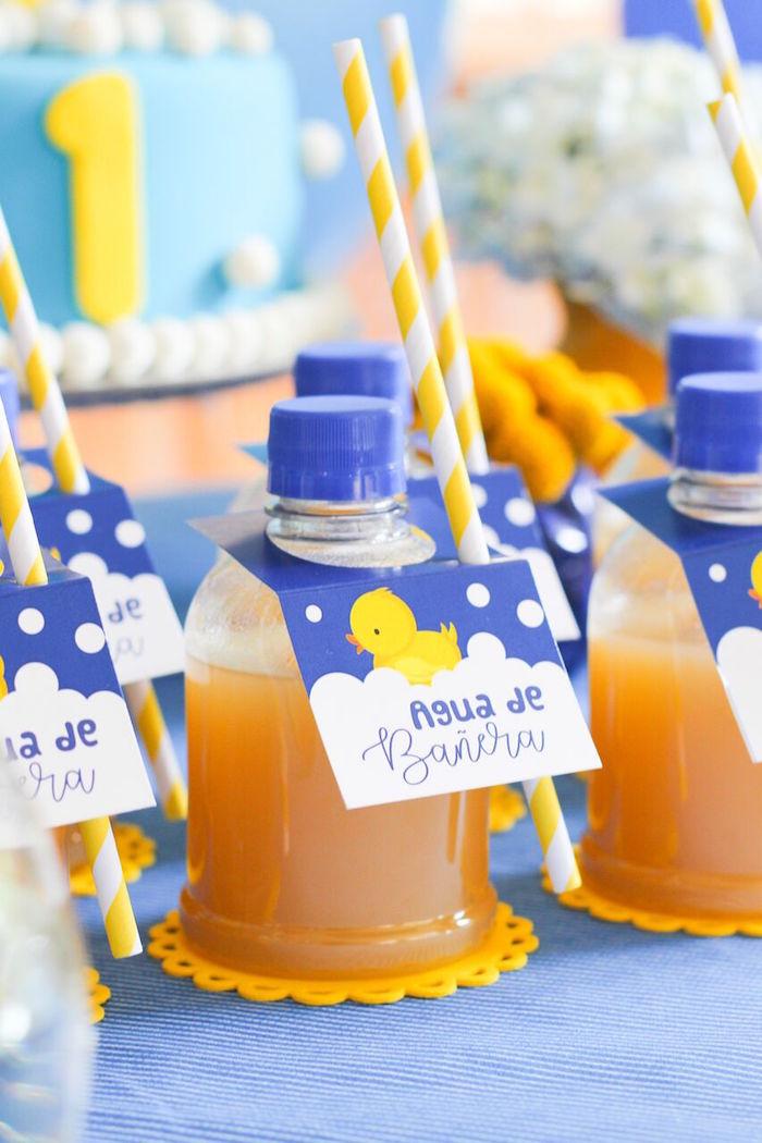 Rubber Ducky Drinks from a Rubber Ducky Birthday Party on Kara's Party Ideas | KarasPartyIdeas.com (15)