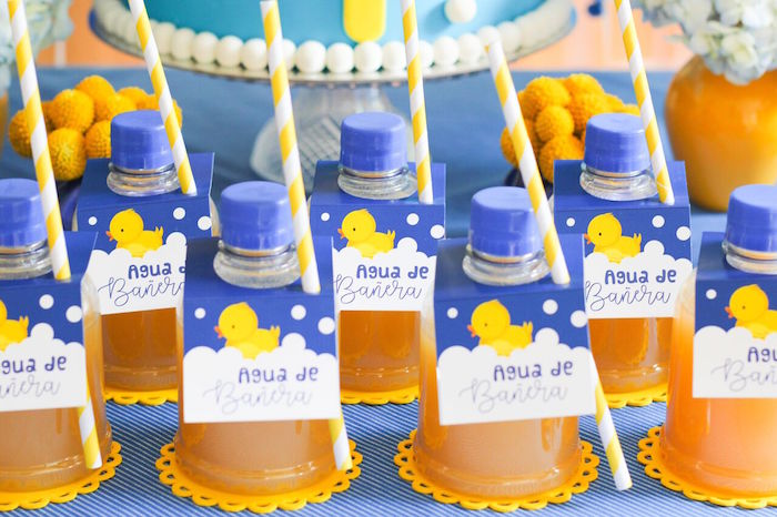 Rubber Ducky Drinks from a Rubber Ducky Birthday Party on Kara's Party Ideas | KarasPartyIdeas.com (14)