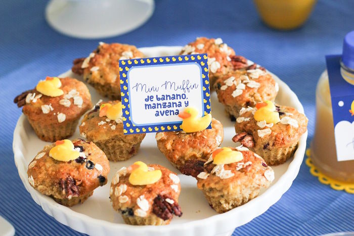 Rubber Ducky Muffins from a Rubber Ducky Birthday Party on Kara's Party Ideas | KarasPartyIdeas.com (13)