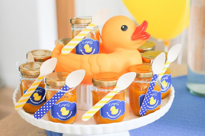 Rubber Ducky Dessert Pedestal from aRubber Ducky Birthday Party on Kara's Party Ideas | KarasPartyIdeas.com (12)