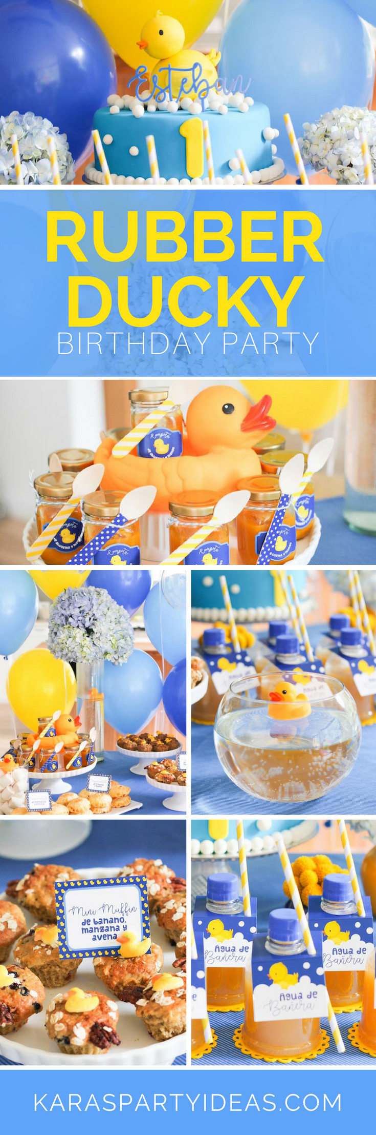 Rubber Ducky Birthday Party via Kara's Party Ideas - KarasPartyIdeas.com