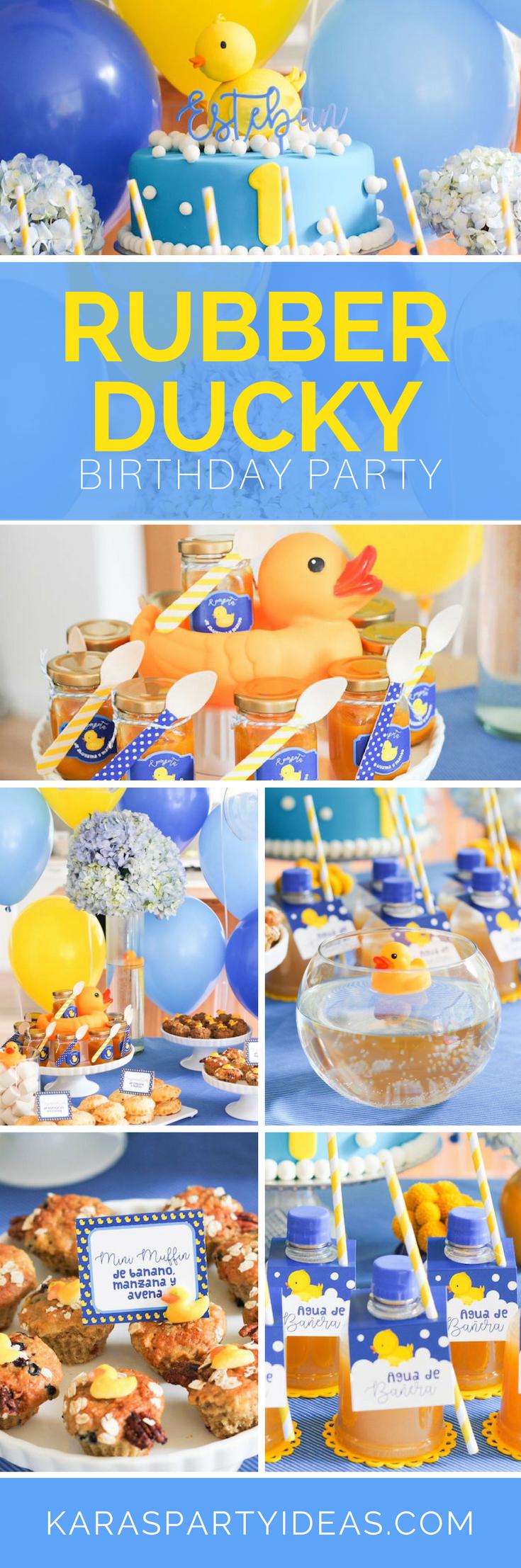 Rubber Ducky Birthday Party via Kara's Party Ideas - KarasPartyIdeas.com