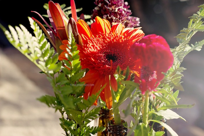 Wild blooms from a Rustic Biker BBQ Birthday Party on Kara's Party Ideas | KarasPartyIdeas.com (9)
