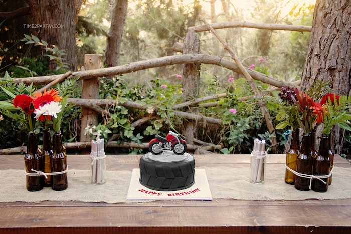Rustic Biker BBQ Birthday Party on Kara's Party Ideas   KarasPartyIdeas.com (7)
