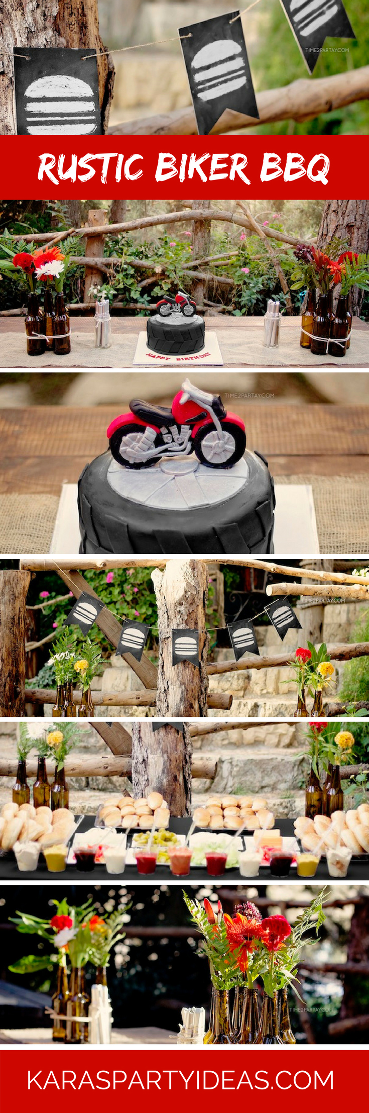 Kara S Party Ideas Rustic Biker Bbq Birthday Party Kara