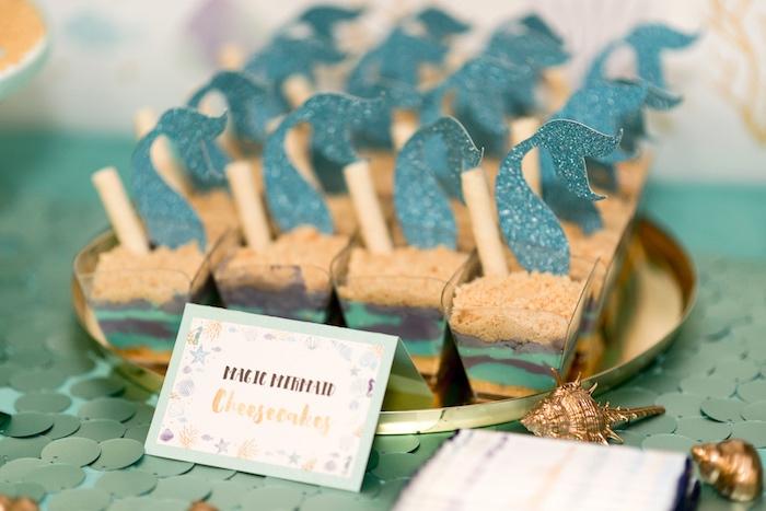 Magic Mermaid Cheesecakes from a Sharks vs. Mermaids Under the Sea Party on Kara's Party Ideas   KarasPartyIdeas.com (24)