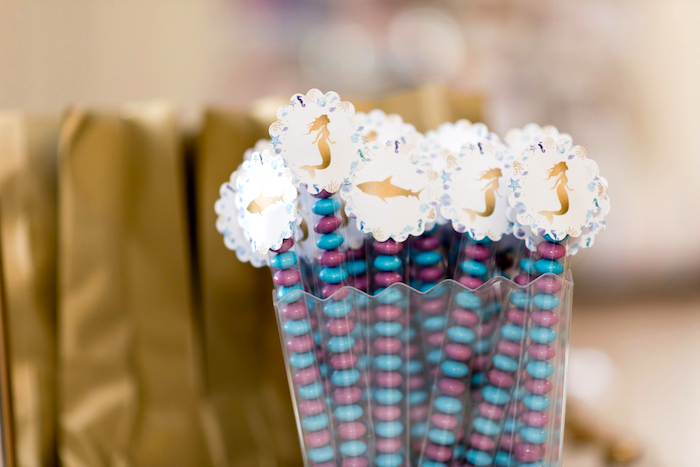 Candy tubes from a Sharks vs. Mermaids Under the Sea Party on Kara's Party Ideas | KarasPartyIdeas.com (37)