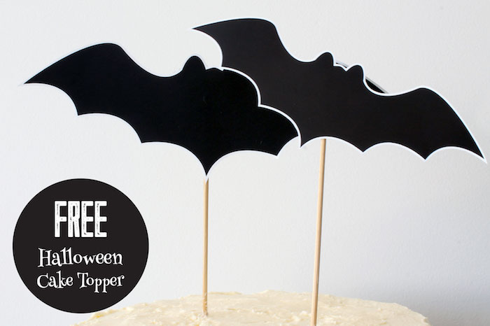 Free Bat Cake Topper Printable from a Simple Halloween Dessert Table + FREE Printable on Kara's Party Ideas | KarasPartyIdeas.com (5)