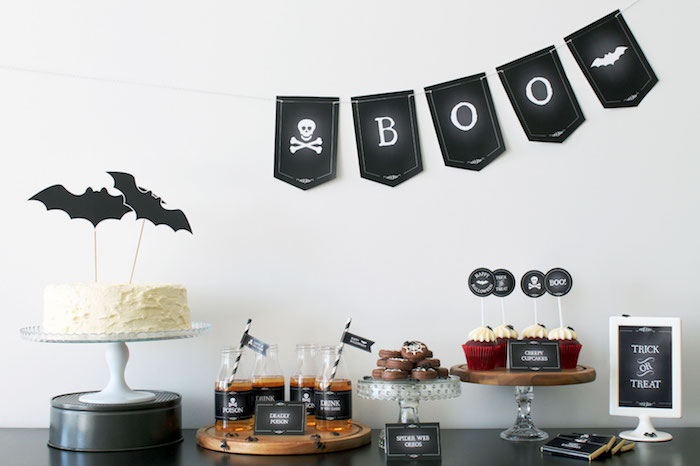 Simple Halloween Dessert Table + FREE Printable on Kara's Party Ideas | KarasPartyIdeas.com (20)