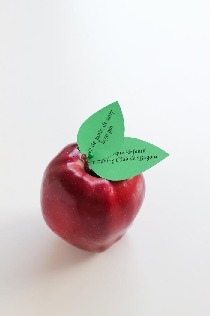 Apple invite from a Snow White Birthday Party on Kara's Party Ideas   KarasPartyIdeas.com (23)