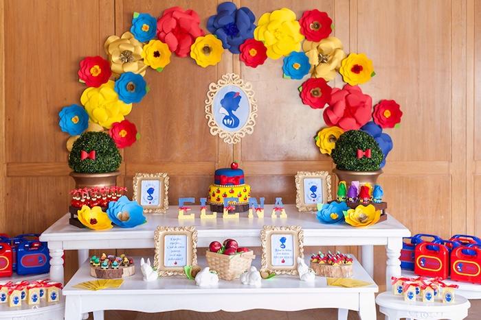 Snow White Birthday Party on Kara's Party Ideas | KarasPartyIdeas.com (20)