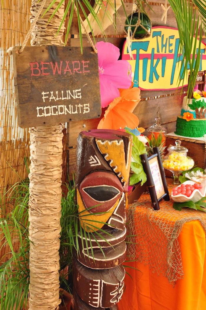 Tiki Totem from a Tiki Hut Luau Party on Kara's Party Ideas | KarasPartyIdeas.com (15)