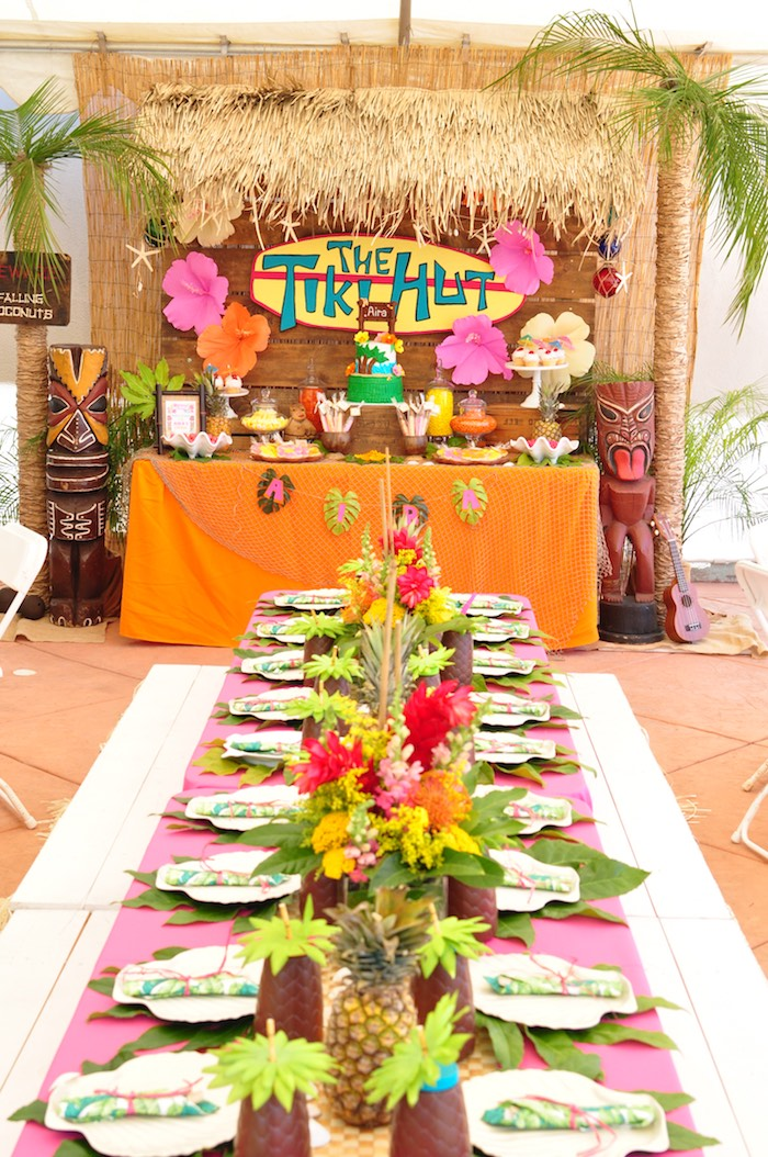 Tiki Hut Luau Party on Kara's Party Ideas | KarasPartyIdeas.com (31)