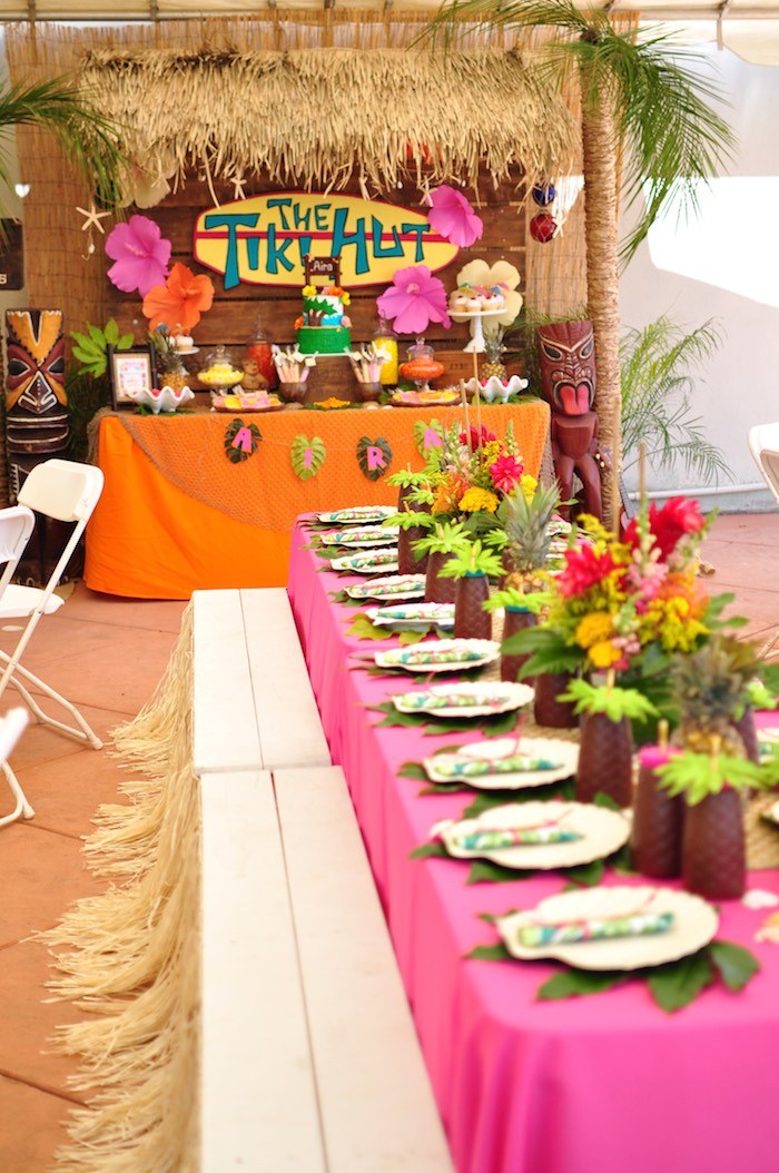 Kara S Party Ideas Tiki Hut Luau Party Kara S Party Ideas