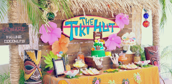 Tiki Hut Luau Party on Kara's Party Ideas | KarasPartyIdeas.com (2)