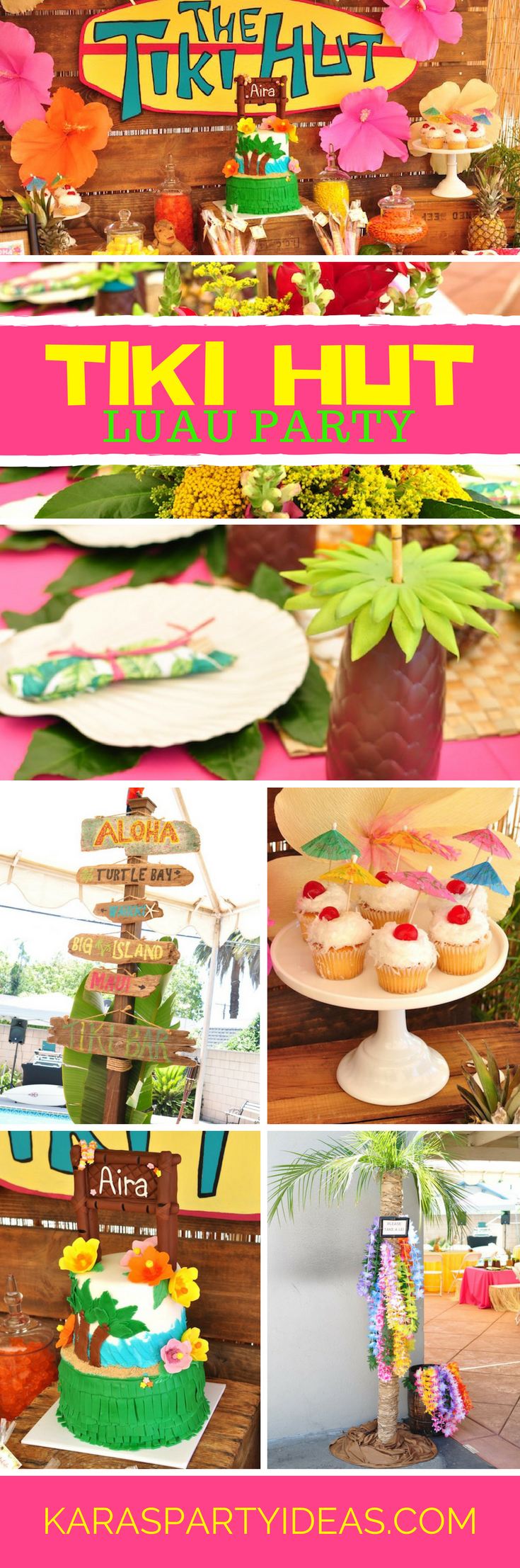 Tiki Hut Luau Party via Kara's Party Ideas - KarasPartyIdeas.com
