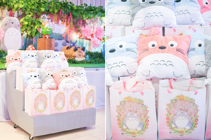 Totoro favors from a Totoro's Forest Birthday Party on Kara's Party Ideas | KarasPartyIdeas.com (15)