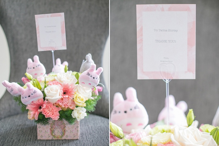 Totoro floral arrangement from a Totoro's Forest Birthday Party on Kara's Party Ideas | KarasPartyIdeas.com (11)