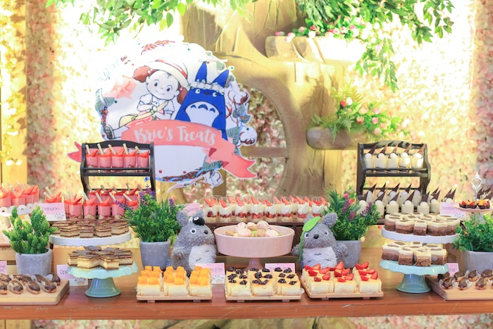 Treat Table from a Totoro's Forest Birthday Party on Kara's Party Ideas | KarasPartyIdeas.com (6)