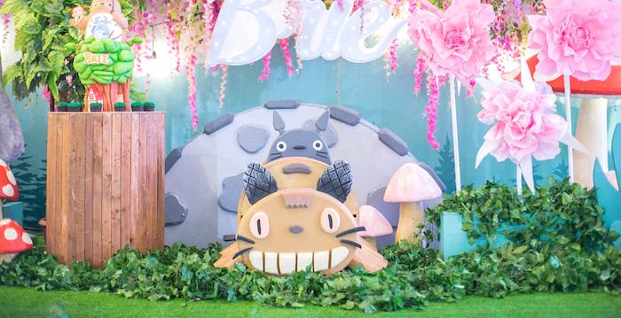 Totoro's Forest Birthday Party on Kara's Party Ideas | KarasPartyIdeas.com (2)
