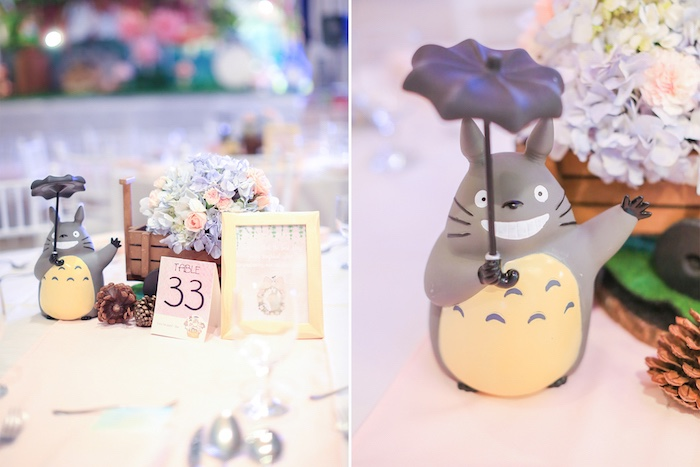 Guest table centerpiece from a Totoro's Forest Birthday Party on Kara's Party Ideas | KarasPartyIdeas.com (18)
