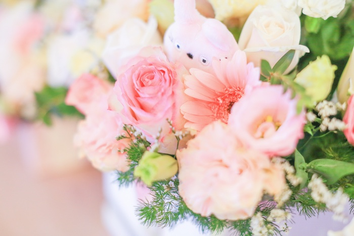 Totoro blooms from a Totoro's Forest Birthday Party on Kara's Party Ideas | KarasPartyIdeas.com (17)