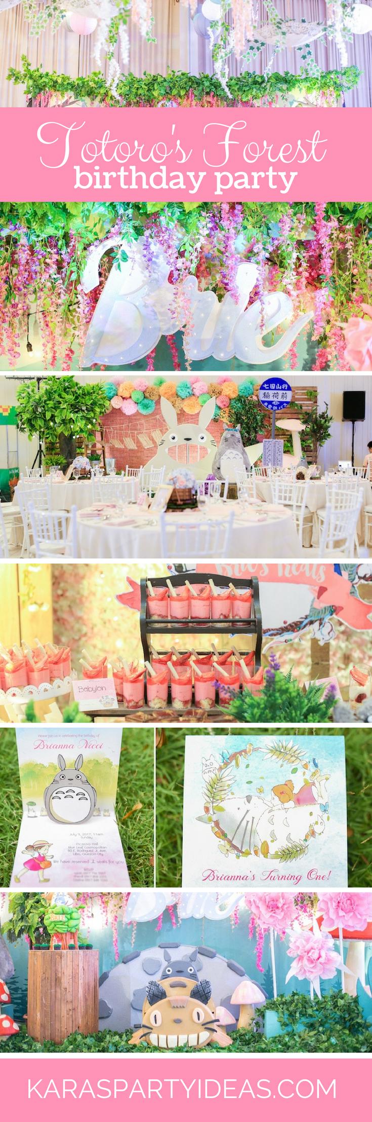 Totoro's Forest Birthday Party via Kara's Party Ideas - KarasPartyIdeas.com