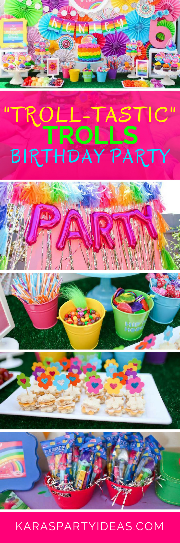 Troll Tastic Trolls Birthday Party Via Karas Ideas