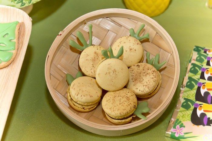 Macarons from a Tropical Toucan Birthday Party on Kara's Party Ideas | KarasPartyIdeas.com (9)