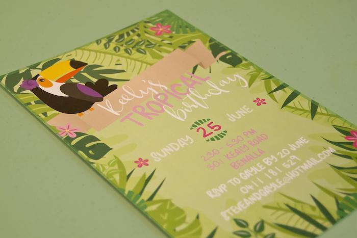 Invitation from a Tropical Toucan Birthday Party on Kara's Party Ideas | KarasPartyIdeas.com (6)
