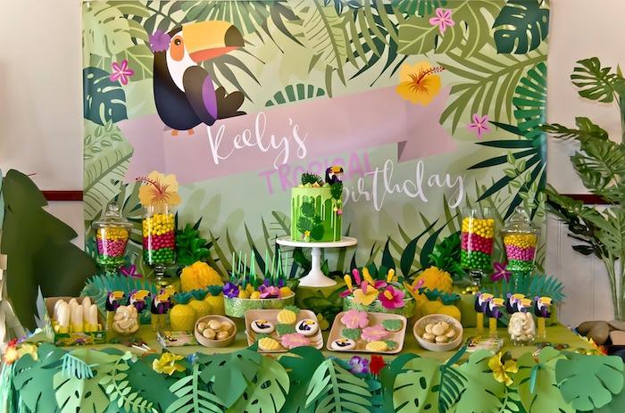 Kara S Party Ideas Tropical Toucan Birthday Party Kara S