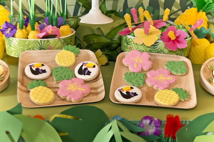 Cookies from a Tropical Toucan Birthday Party on Kara's Party Ideas | KarasPartyIdeas.com (19)
